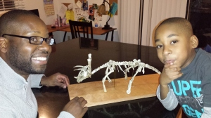 Prehistoric Skeleton Recreation using Chicken bones